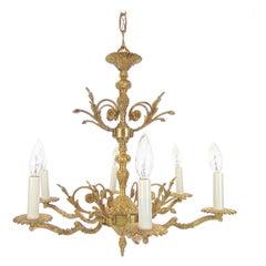 Vintage Ornate Brass Chandelier made in Spain