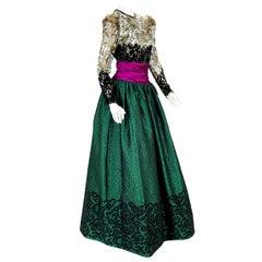 Vintage Oscar de la Renta for Fred Hayman Beverly Hills Ball Gown Dress US 6