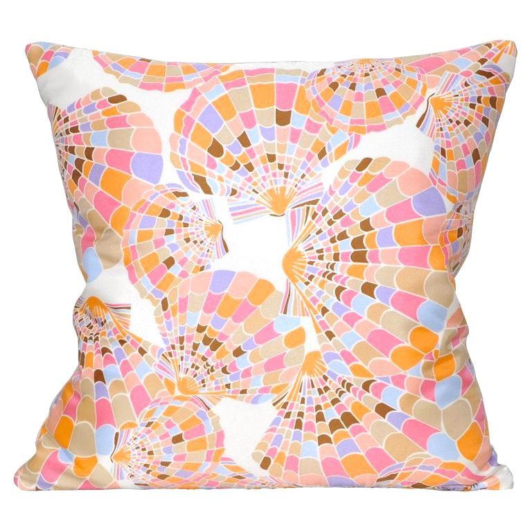 Vintage Oscar de la Renta Silk Scarf with Irish Linen Cushion Pillow Pink