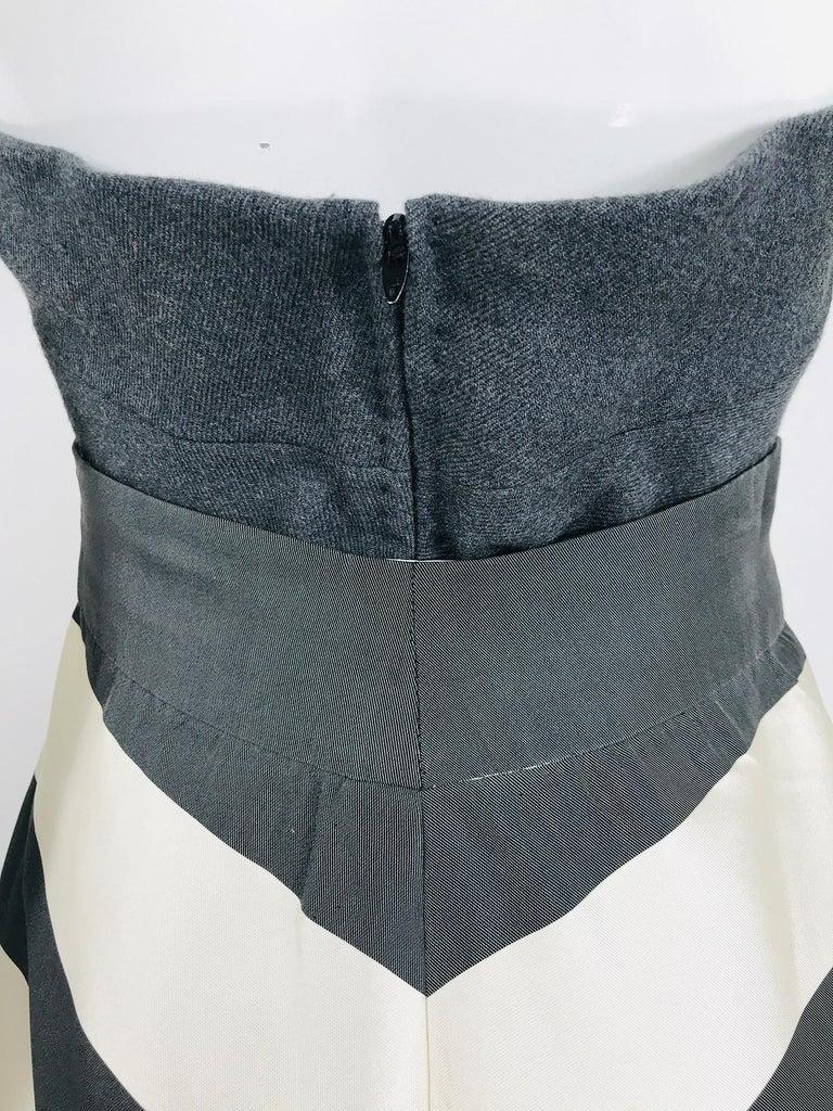 Vintage Oscar de la Renta Silk Stripe Open Front Skirt Shawl and Dress For Sale 8