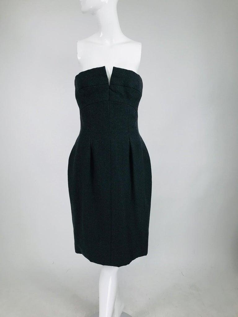 Vintage Oscar de la Renta Silk Stripe Open Front Skirt Shawl and Dress For Sale 9