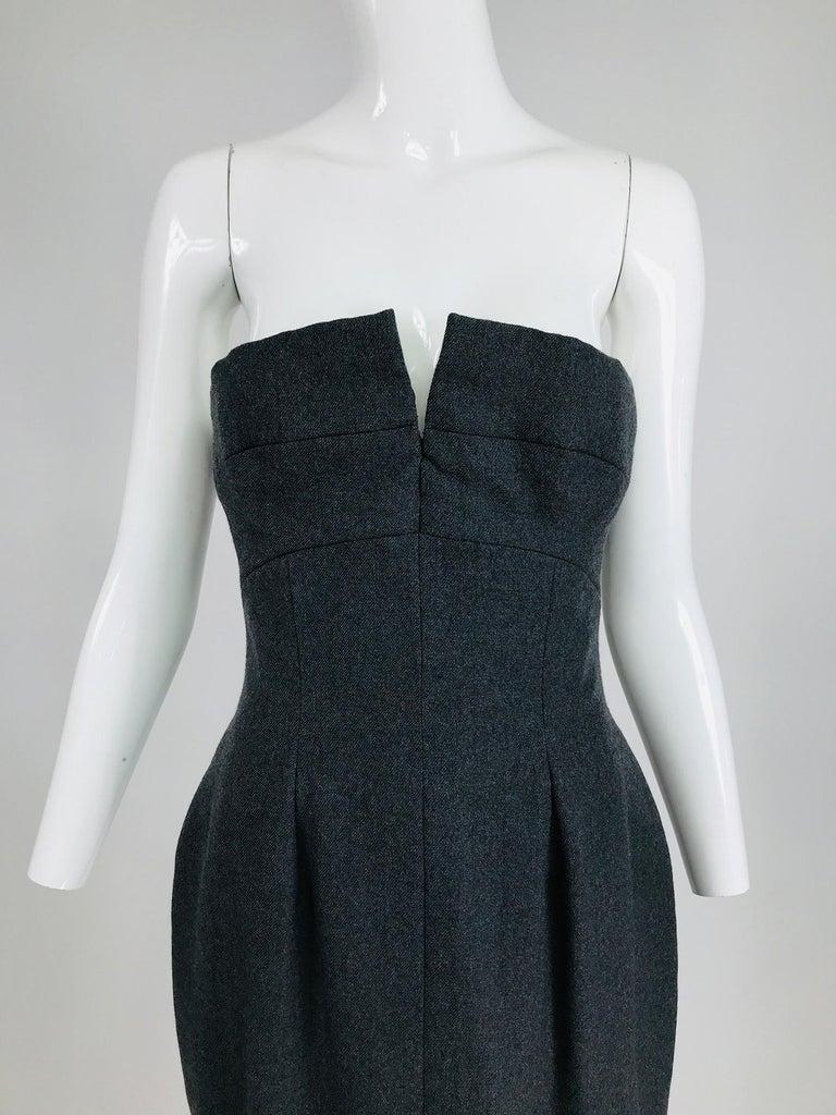 Vintage Oscar de la Renta Silk Stripe Open Front Skirt Shawl and Dress For Sale 10