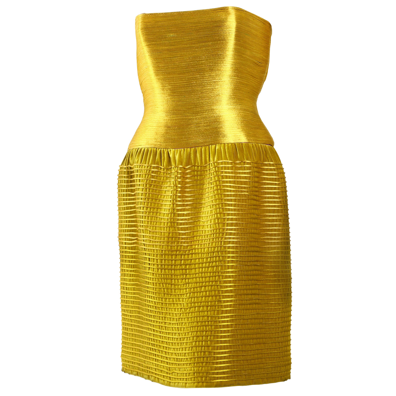 Vintage Oscar De La Renta Structured  Cocktail Dress