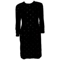 Vintage Oscar de la Renta Velevet Dress