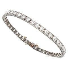 Vintage Oscar Heyman Brothers Diamond Platinum Bracelet