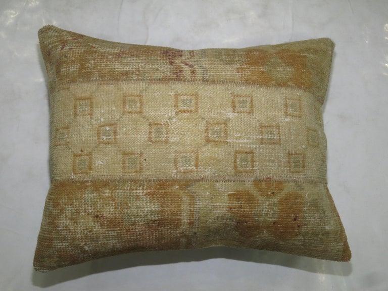 Shaker Vintage Oushak Patchwork Rug Pillow For Sale