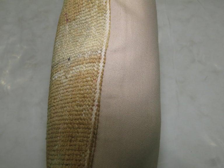 Turkish Vintage Oushak Patchwork Rug Pillow For Sale