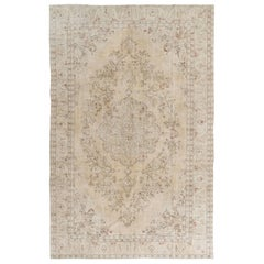 Vintage Oushak Rug in Neutral Colors