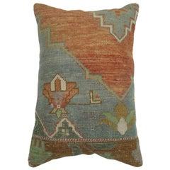 Vintage Oushak Rug Pillow