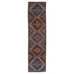 Vintage Oushak Runner, Hand Knotted Wool Oriental Rug
