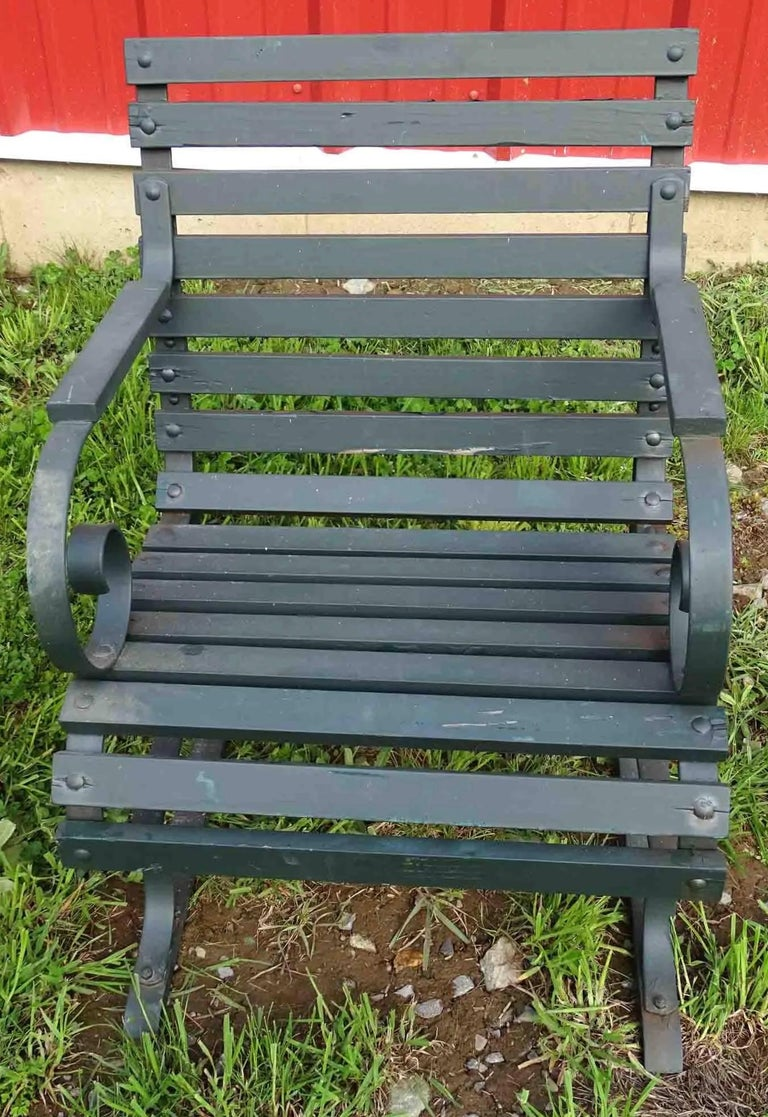 North American Vintage Outdoor Porch or Garden Lounge Chairs For Sale