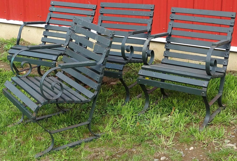 Vintage Outdoor Porch or Garden Lounge Chairs In Good Condition For Sale In Great Barrington, MA