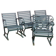 Vintage Outdoor Porch or Garden Lounge Chairs