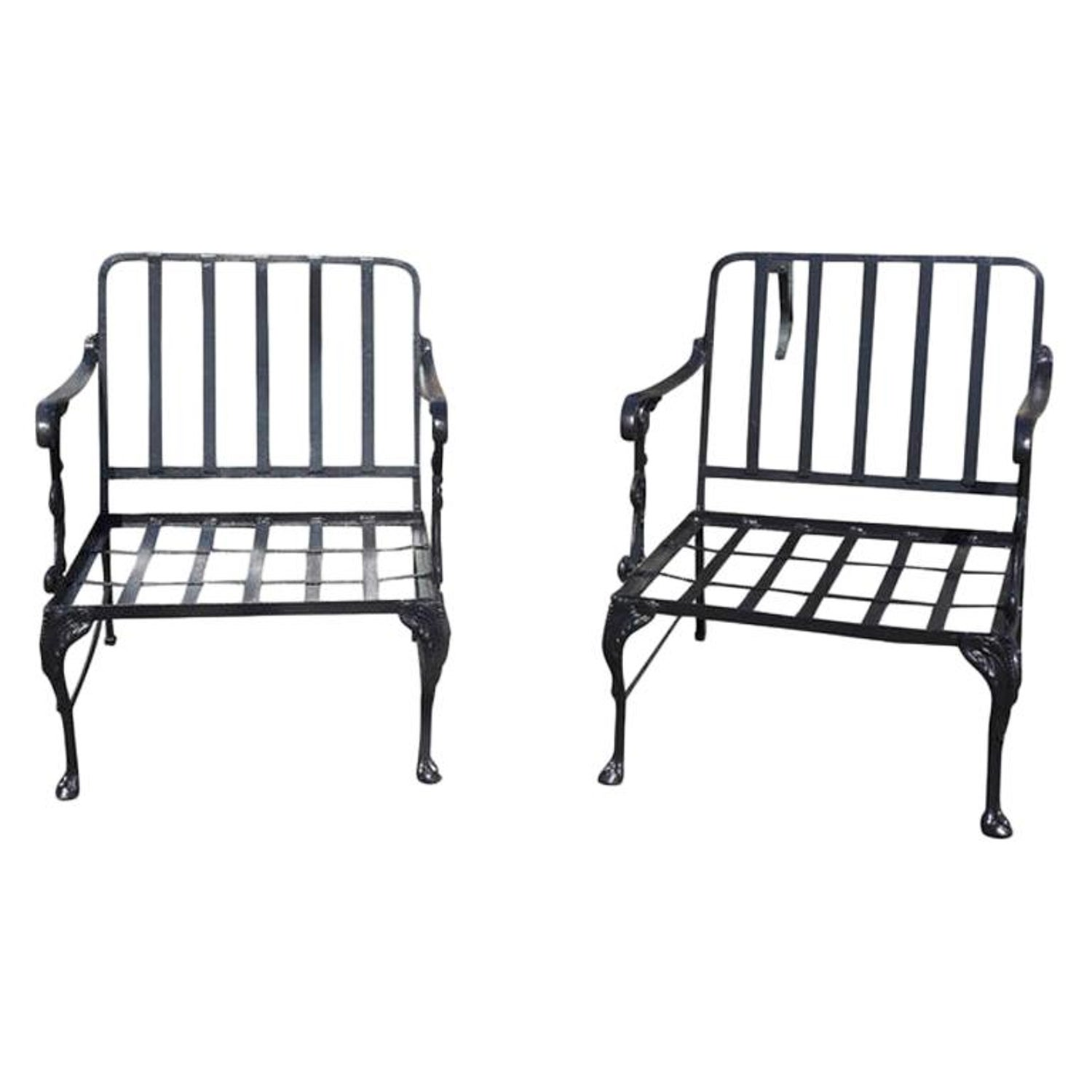 Groovy Vintage Outdoor Porch Or Garden Metal Lounge Chairs Bralicious Painted Fabric Chair Ideas Braliciousco