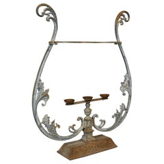 Vintage Outdoor Stand French, Cast Iron, Planter, Stick, Art Nouveau, circa 1950
