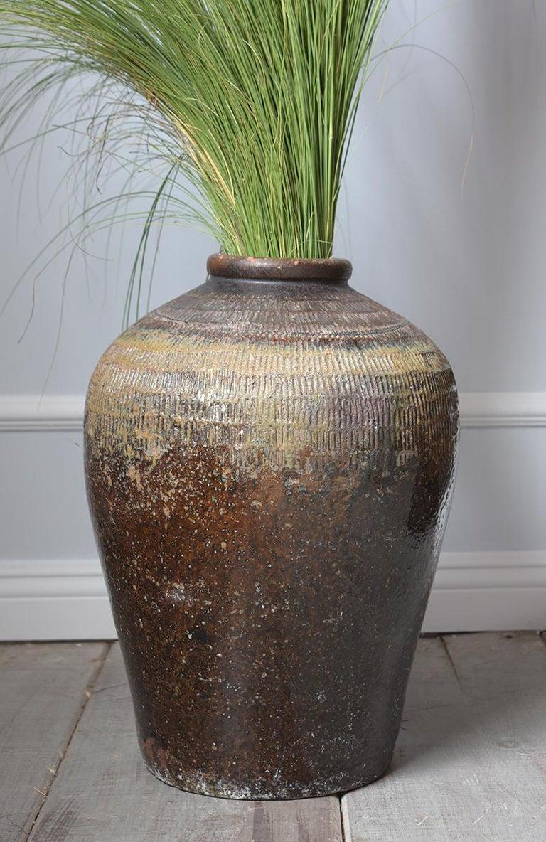 Neoclassical Vintage Outdoor Urn Ceramic Vase For Sale
