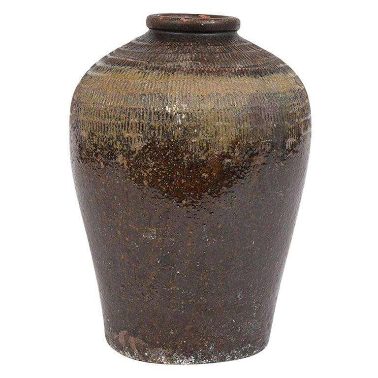 Vintage Outdoor Urn Ceramic Vase For Sale