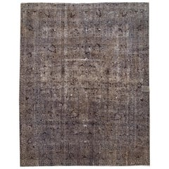 Vintage Overdyed Gray Rug