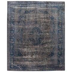 Vintage Overdyed Wool Rug
