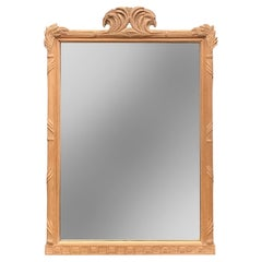 Vintage Overscale Carved Hardwood Regency-Style Mirror