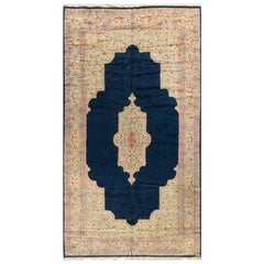 Vintage Oversize Persian Kirman Rug 9'9 x 17'10