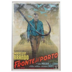"""Vintage Oversized Framed Movie Poster, 1954 """"On the Waterfront"""""""