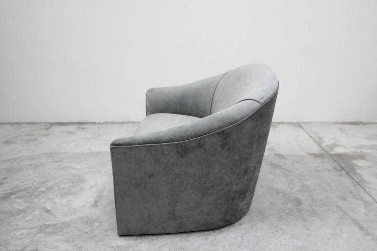 Vintage Oversized Italian Lounge Chair Loveseat Sofa For