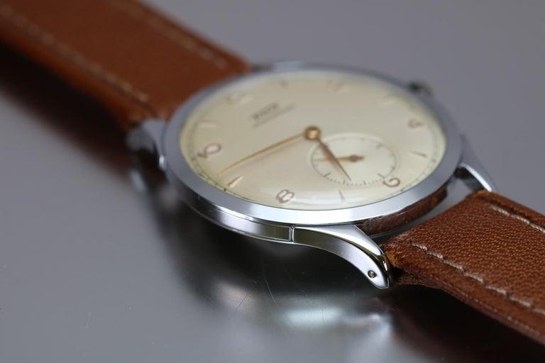 Men's Vintage Oversized Stainless Steel Tissot Antimag Ref 6721-4 Wristwatch, 1950 For Sale