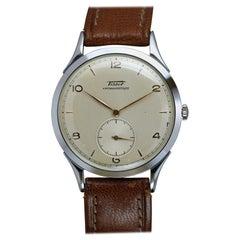 Vintage Oversized Stainless Steel Tissot Antimag Ref 6721-4 Wristwatch, 1950