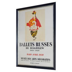 "Vintage Pablo Picasso ""Ballets Russes"" Exhibition Poster, France 1939"