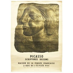 Vintage Pablo Picasso Poster Created for the 1958 Exhibition