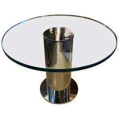 Vintage Pace Collection Chrome Column Center Entry Table