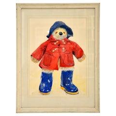 Vintage Paddington Bear Original Water Colour Painting