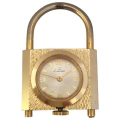 Vintage Padlock Shape Swiss Mechanical Pendant Watch