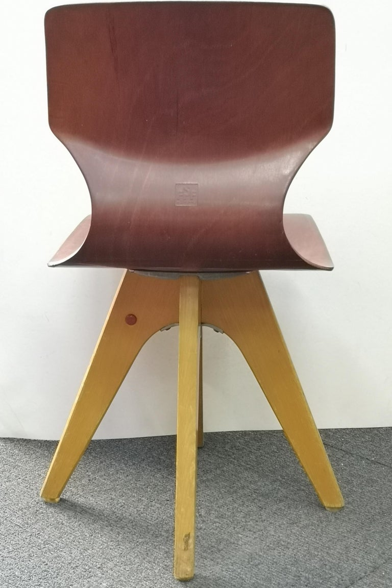 Vintage Pagwood Childrens Chair by Adam Stegner, for Pagholz Flötotto, 1960s In Good Condition For Sale In Budapest, HU
