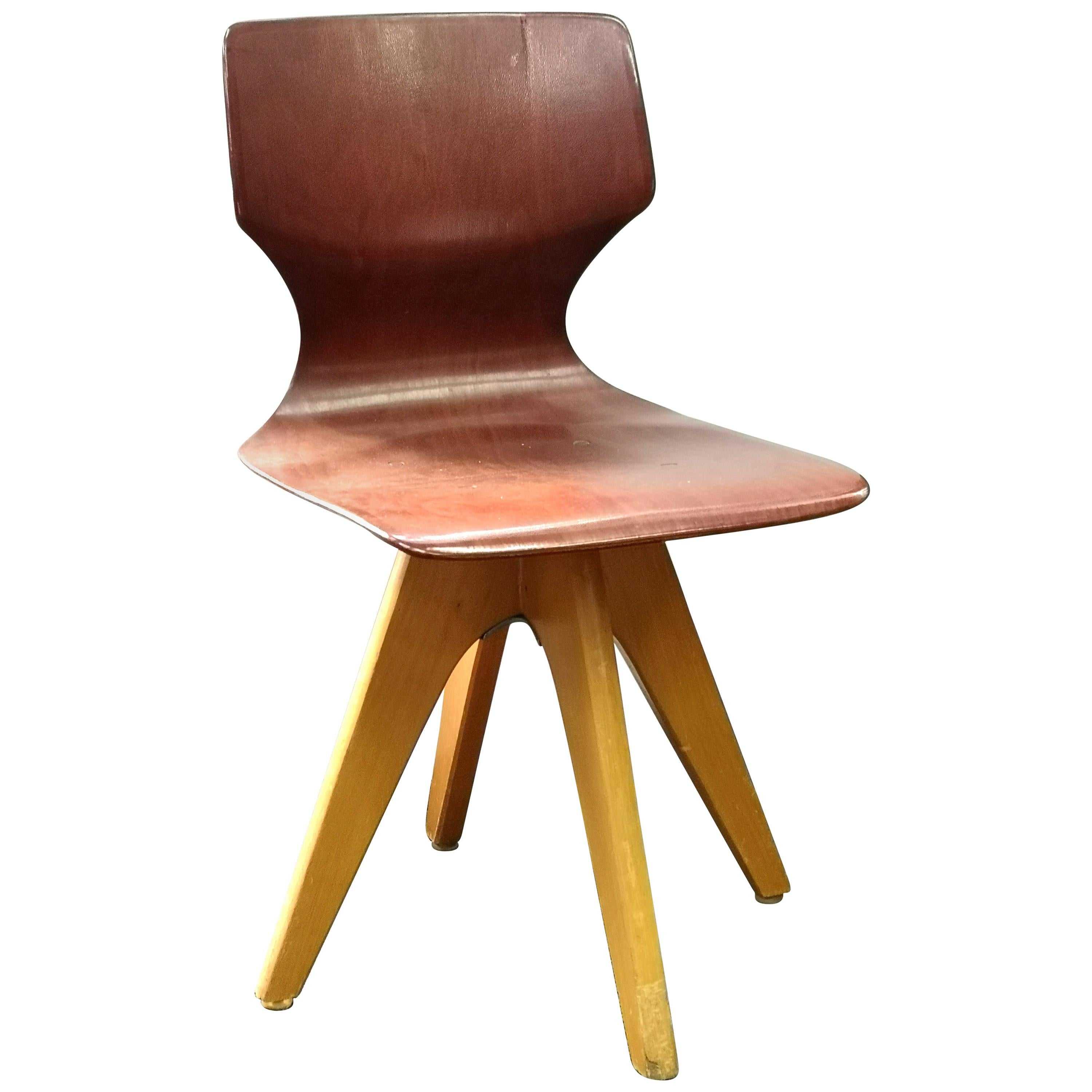 Vintage Pagwood Childrens Chair by Adam Stegner, for Pagholz Flötotto, 1960s