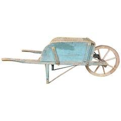 Vintage Painted American Garden Wheelbarrow, Eastern Garden No. 4.