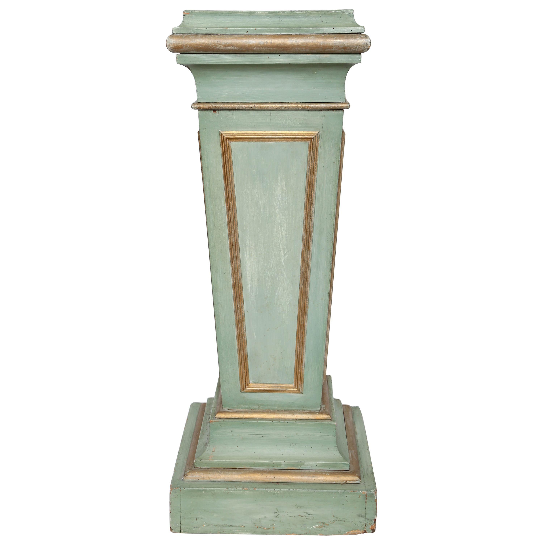 Vintage Painted and Parcel-Gilt Classical Pedestal