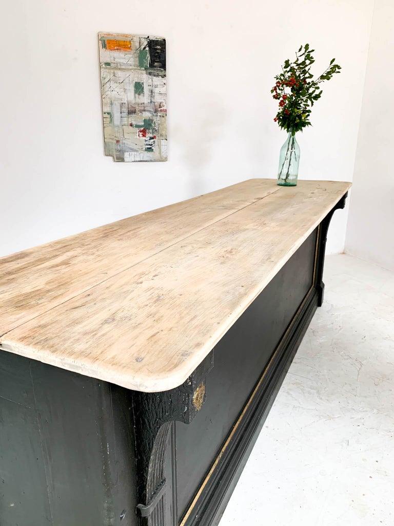 Vintage Painted Black Haberdashery Shop Counter Kitchen Island 14