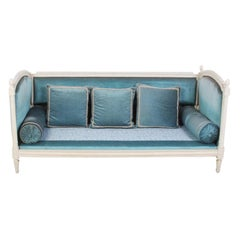 Vintage Painted French Louis XVI-Style Daybed