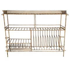 Vintage Painted Metal Kitchen Rack