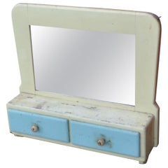 Vintage Painted Shabby Chic Wall Mirror