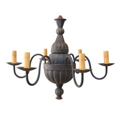 Vintage Painted Tole Chandelier