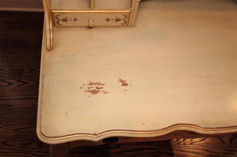 Wood Vintage Painted Writing Desk