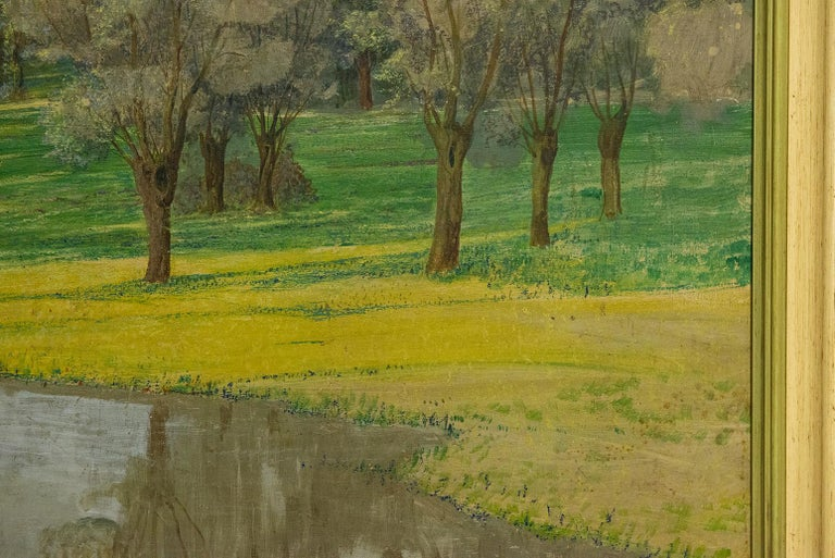 Oiled Vintage Painting