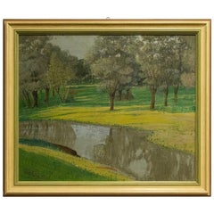 "Vintage Painting ""Quiet countryside"""