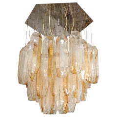 Vintage Bi-Color Murano Glass Chandelier