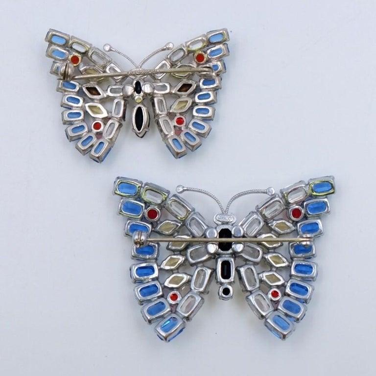 Art Deco 1930/'s Original Vintage Czech Butterfly Brooch Over 2