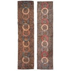 Vintage Pair of American Hooked Rugs