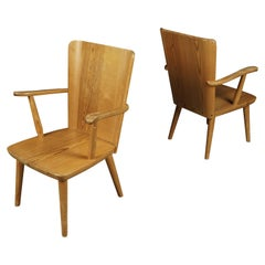 Vintage Pair of Armchairs Designed by Göran Malmvall, Sweden, circa 1940
